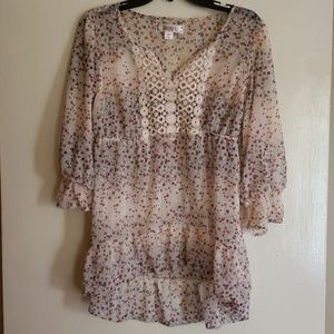 Peasant sheer blouse